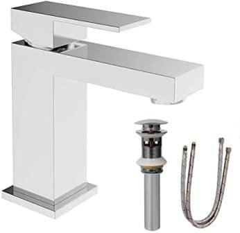 ALWEN Modern Chrome Bathroom Faucet with Pop-Up Drain