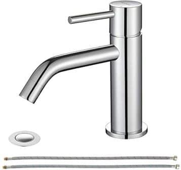 EZANDA Single-Handle Chrome Bathroom Faucet