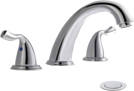 PHIESTINA 8-Inch 3-Hole Widespread Chrome Bathroom Faucet
