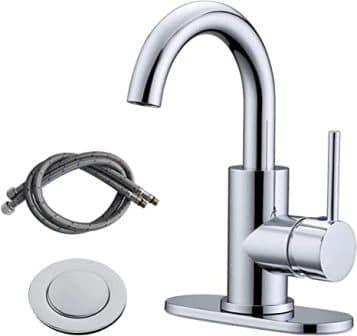 RKF Single-Handle Swivel-Spout Chrome-Polished Bathroom Sink Faucet