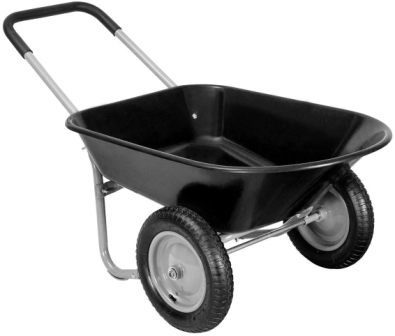 Giantex Heavy Duty 2 Tire Wheelbarrow Garden Cart Landscape Wagon