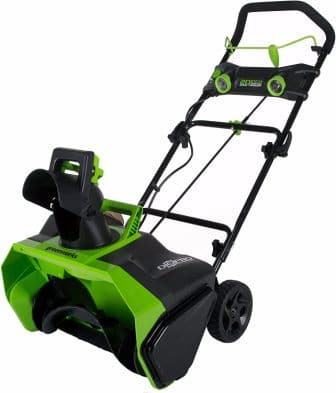 Greenworks 20-Inch 40V Cordless Snow Thrower, 4.0 AH Battery