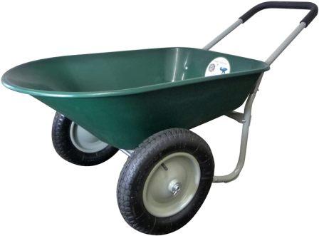 Marathon Dual-Wheel Residential Yard Rover Wheelbarrow and Yard Cart