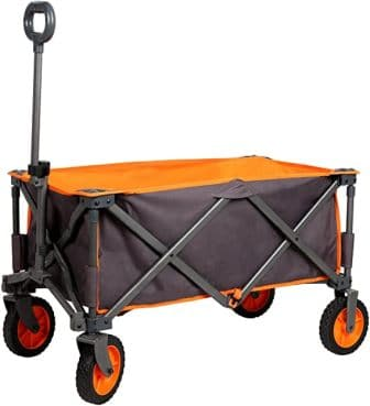 PORTAL Collapsible Folding Outdoor Utility Wagon, Grey