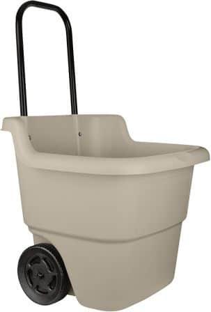 Suncast LC1250D 15.5-Gallon Capacity Poly Rolling Lawn Cart